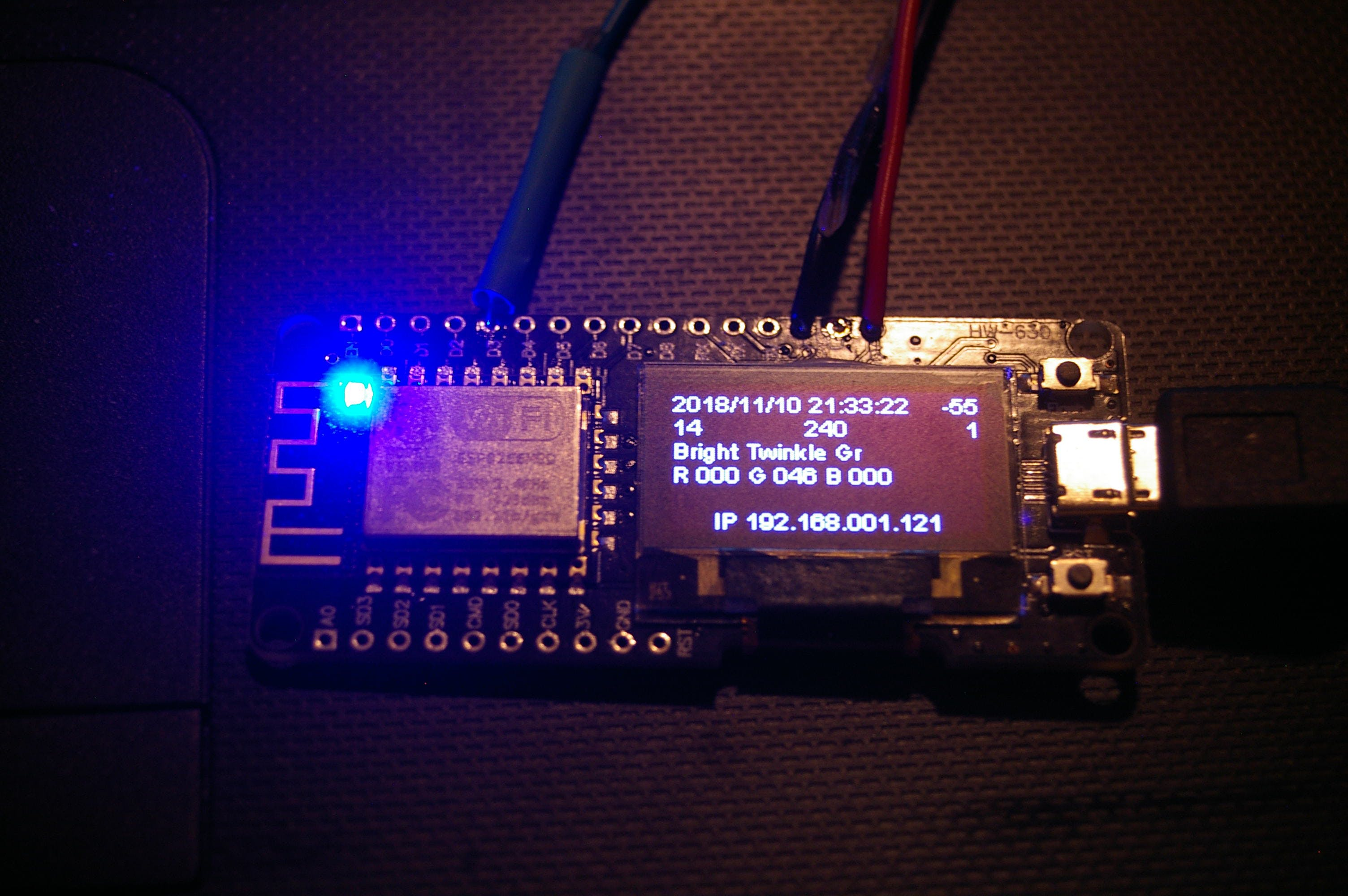 Testing Software on a integrated display board