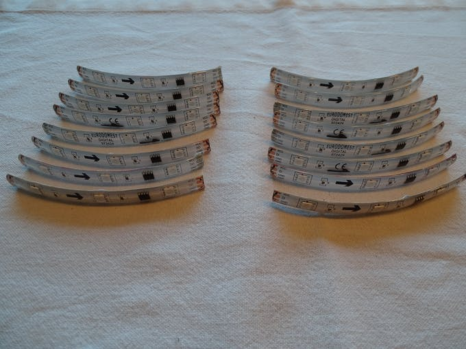2 * 8 segments of LED strip