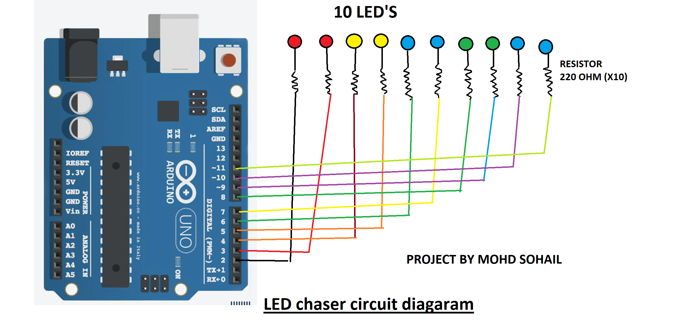 Led Wiring Diagram Arduino
