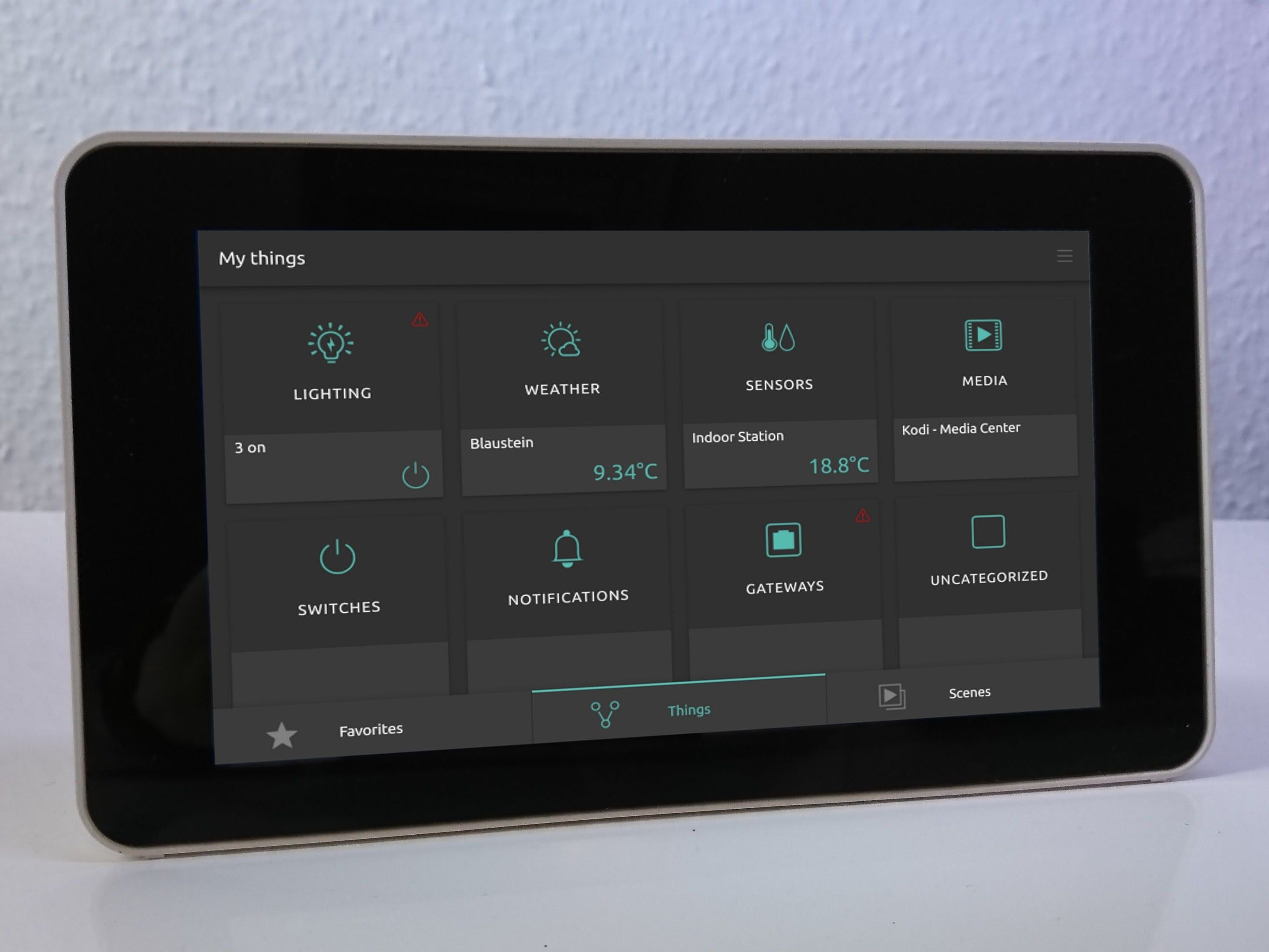 Open Source smart home with touch screen control panel
