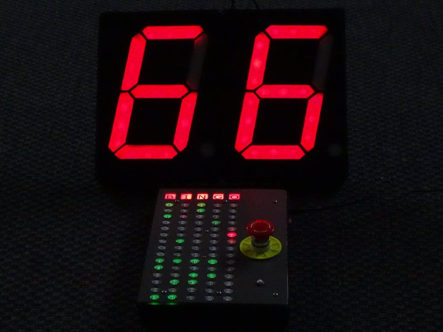 Arduino Bingo Machine With Diy A4 Size 7 Segment Displays Arduino Project Hub