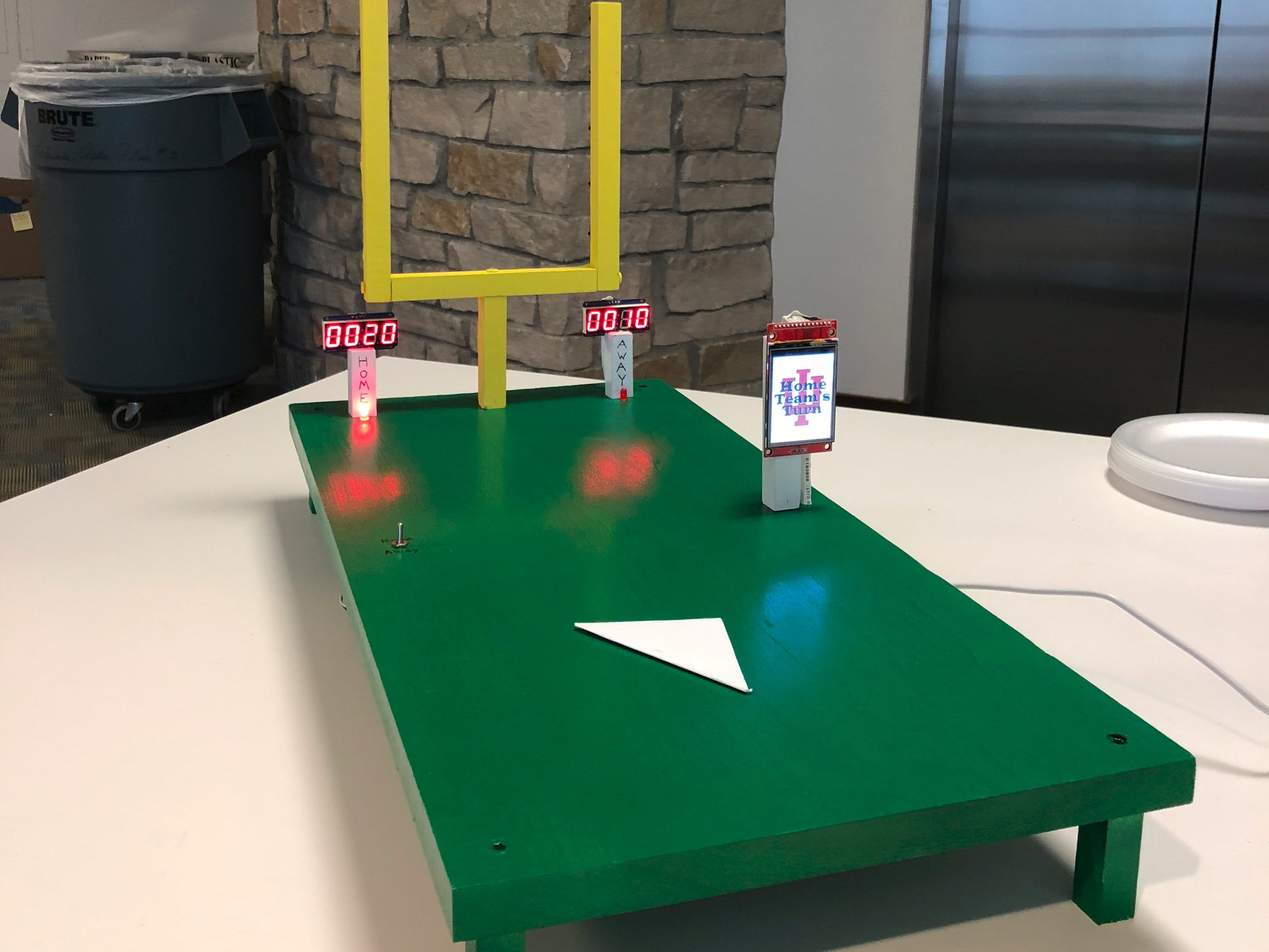 Automated Paper Football Game