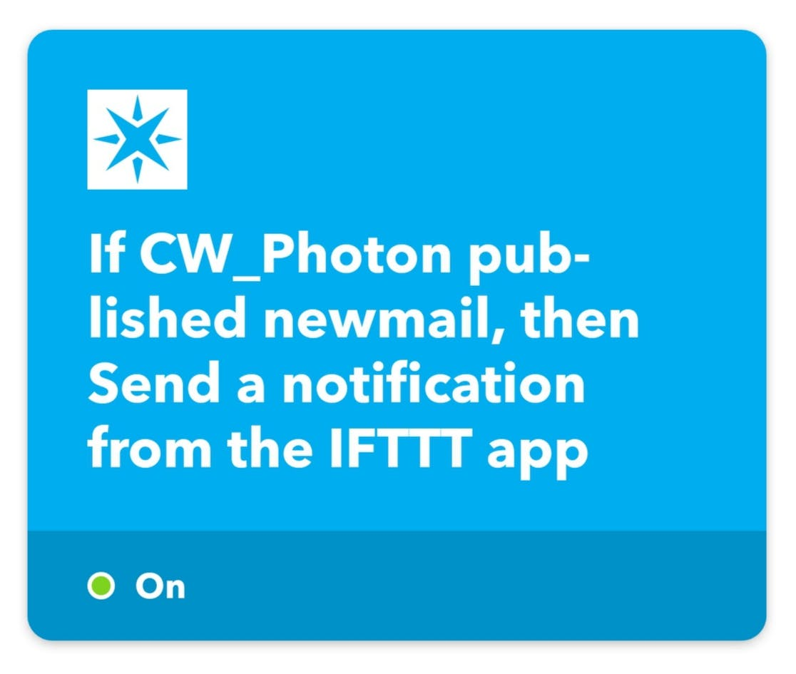 Notification applet for second Photon