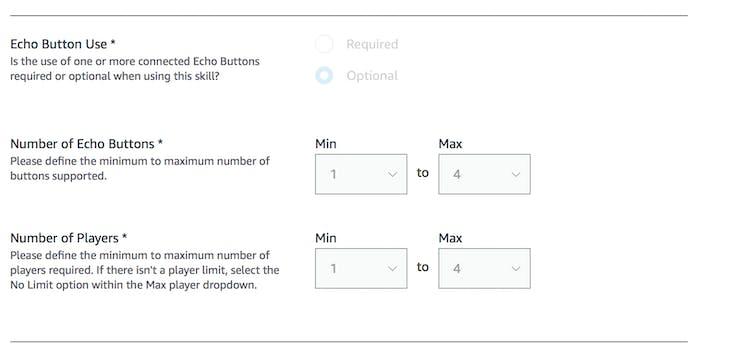 Distribution Tab of Alexa Skills Kit