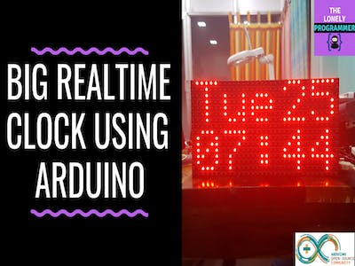 Big Real-Time Clock Using Arduino