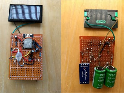 ESP8266 - Solar Moisture Sensor with Supercapacitors