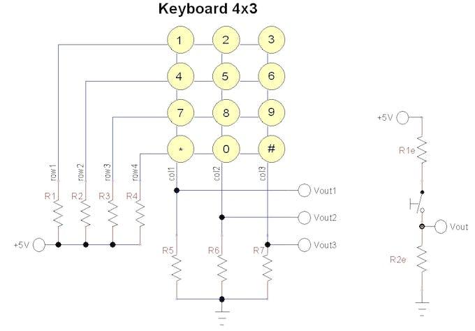 Swell Only Three Pins For A 4X3 Keypad Arduino Project Hub Wiring Database Ilarigelartorg