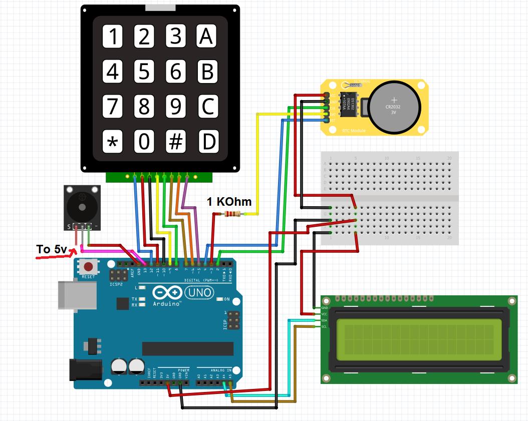 Simple Alarm Clock with DS1302 RTC - Hackster io