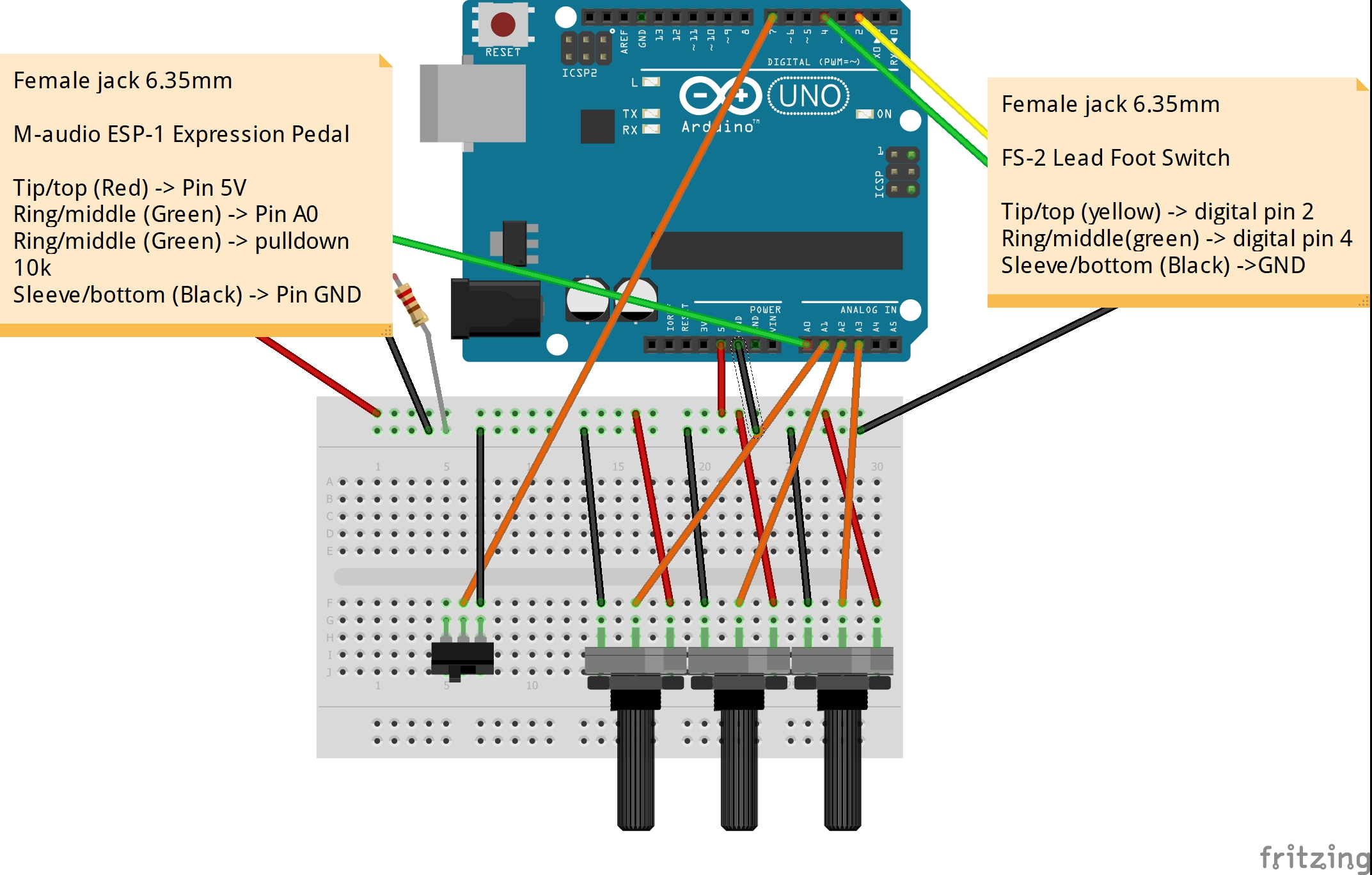 Usb To Midi Wiring Diagram Turn An Arduino Uno Into A Controller Guitar Pedals Foot Iezx0sdzo2
