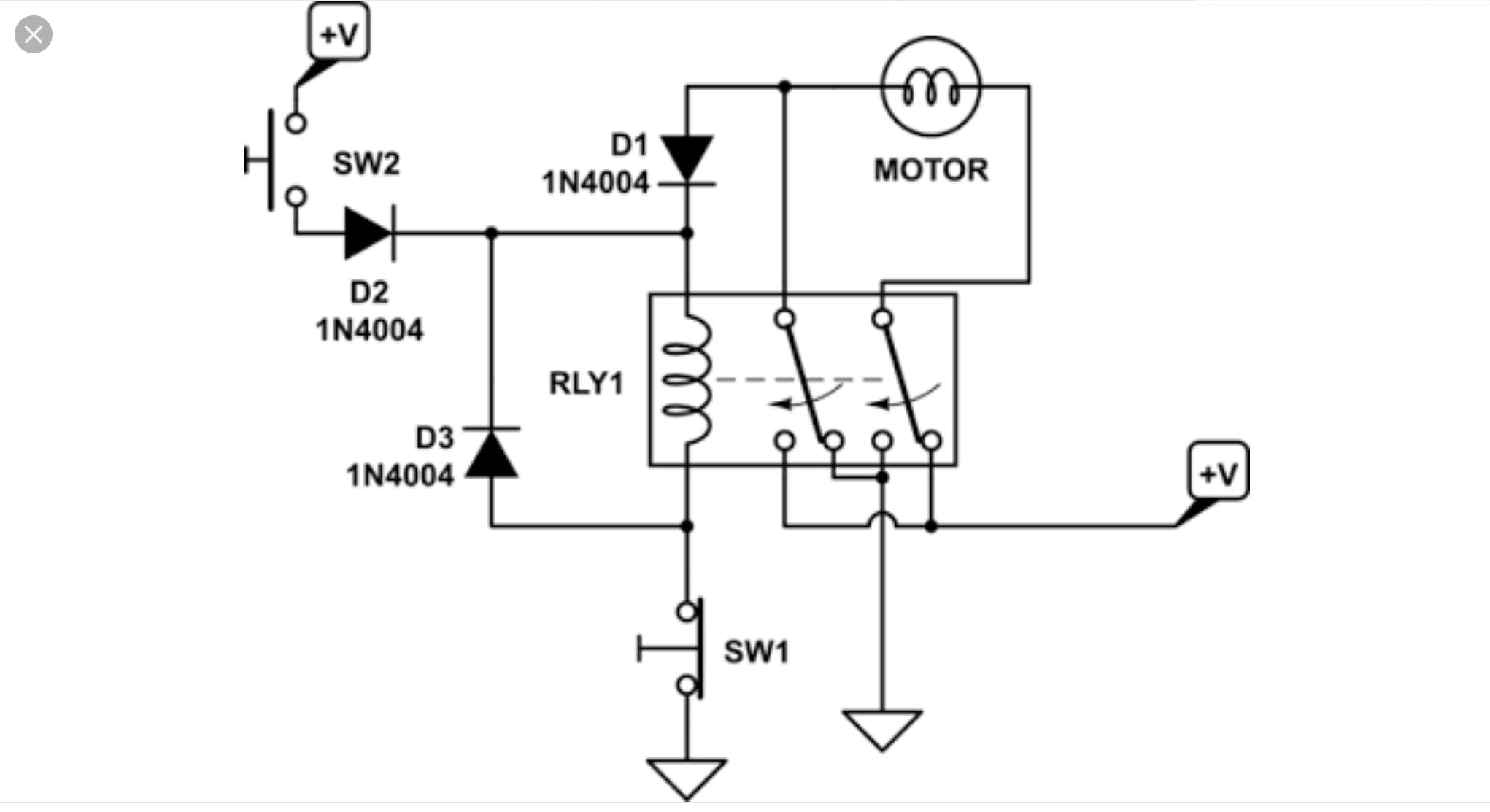 basic schematic Of the Control Circuit for 1 Wheel