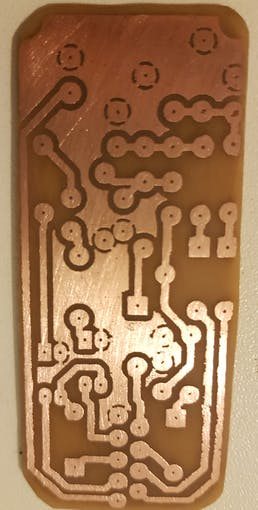 Etched copper board
