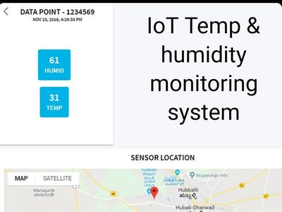IoT-Based Temp & Humidity Monitoring System with Loc Tracker