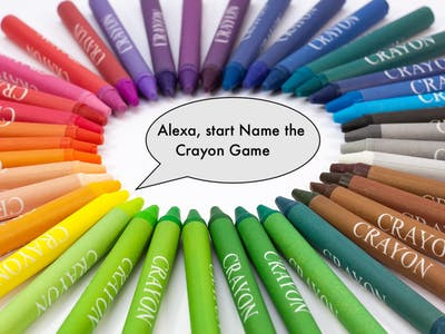 Alexa, Start Name the Crayon Game