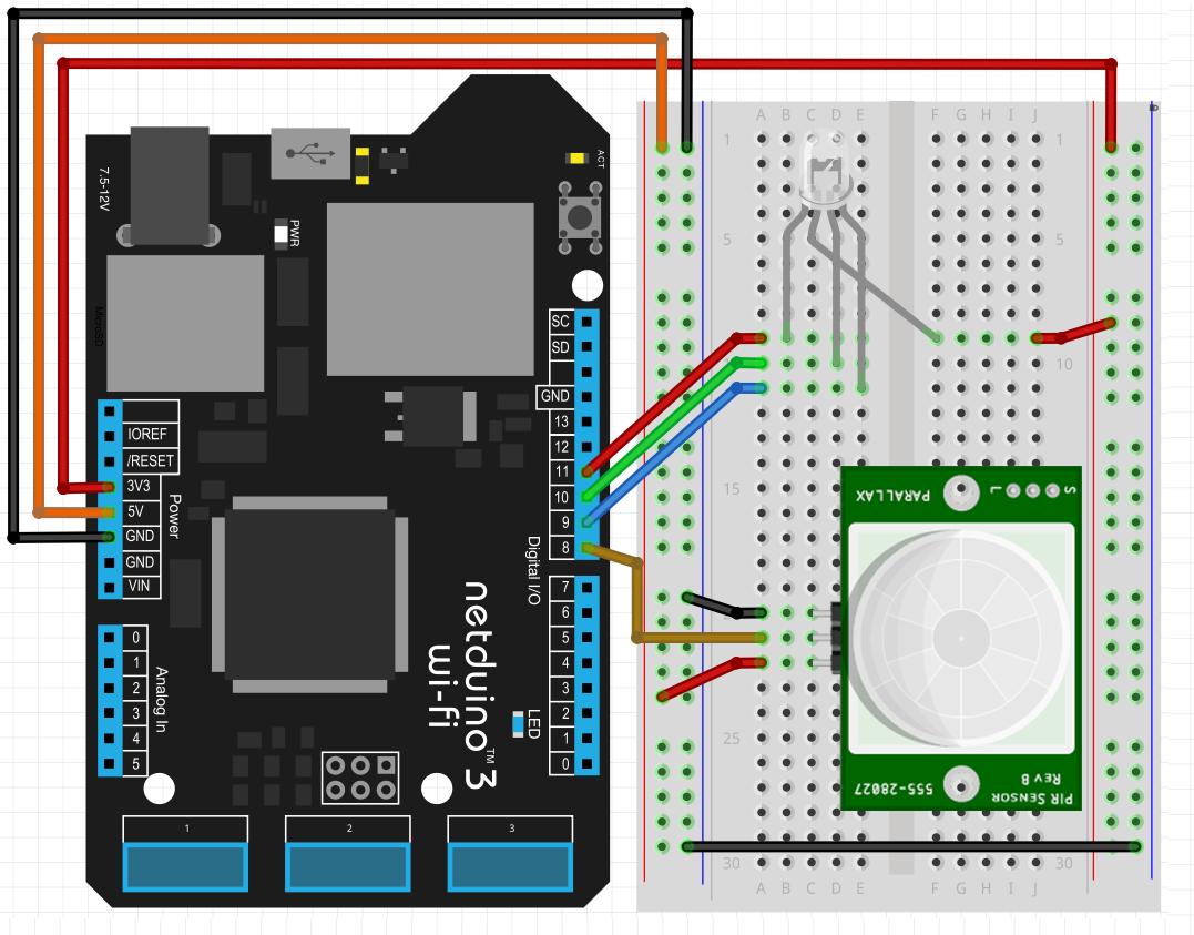 Light Sensor Wiring Diagram Netduino Automotive Diagrams A Pir To Simple Schema For Motion Activated