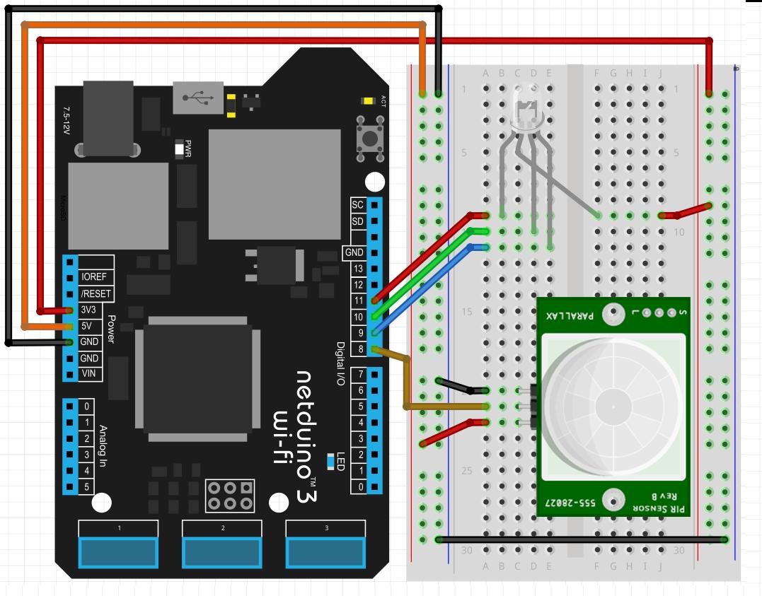 Light Sensor Wiring Diagram Netduino Expert Voltage Divider Circuit Simple Schema