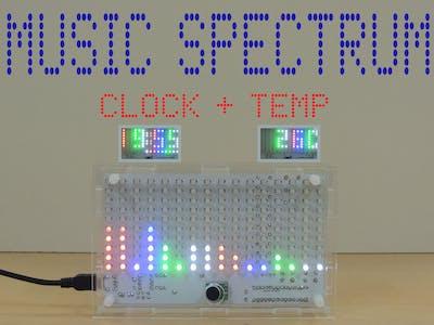 Music Spectrum with Clock and Temperature