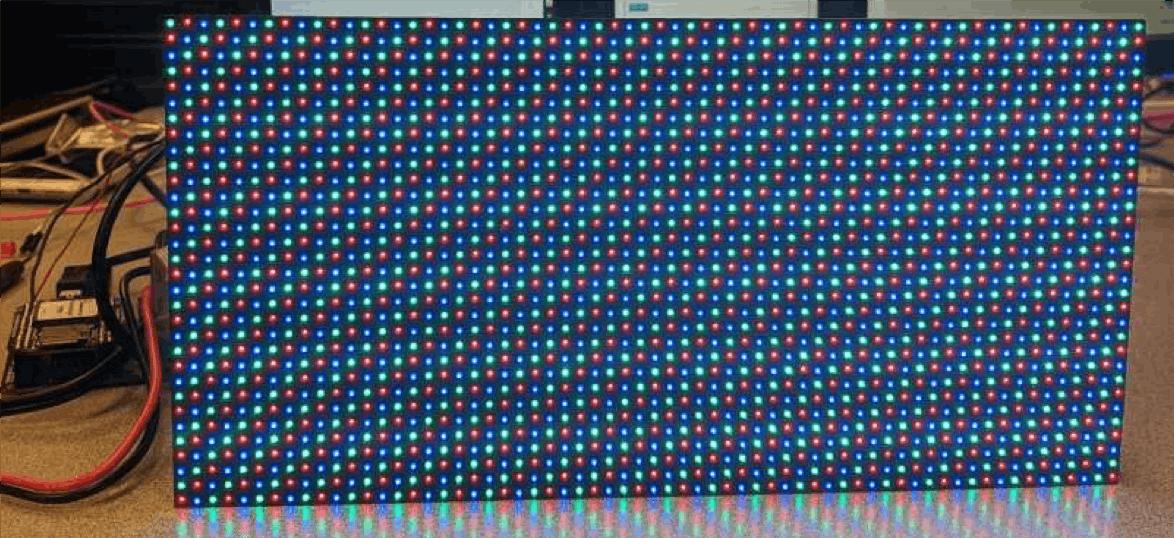 Test Pattern on LED Matrix