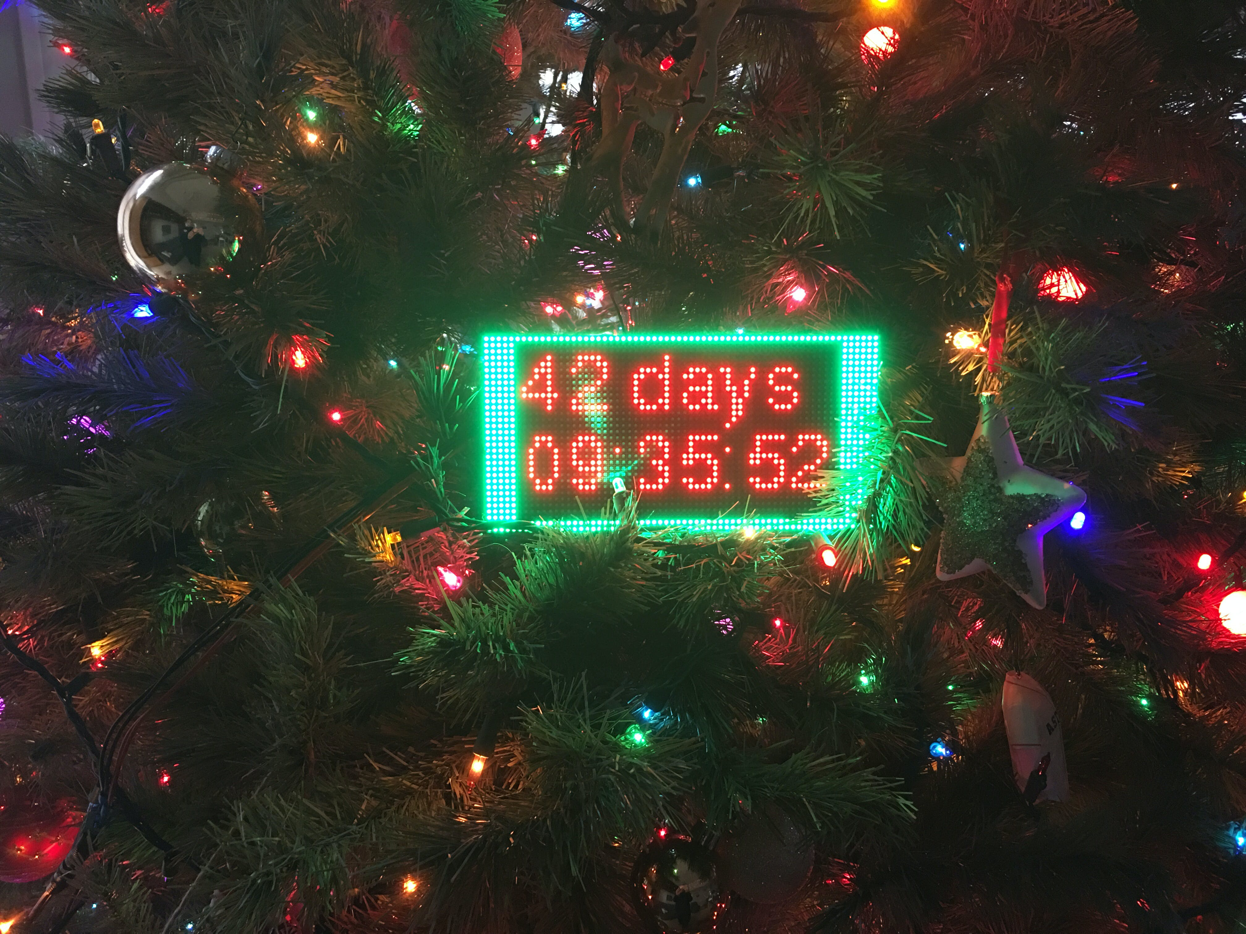 Completed PocketBeagle® Christmas Countdown Clock