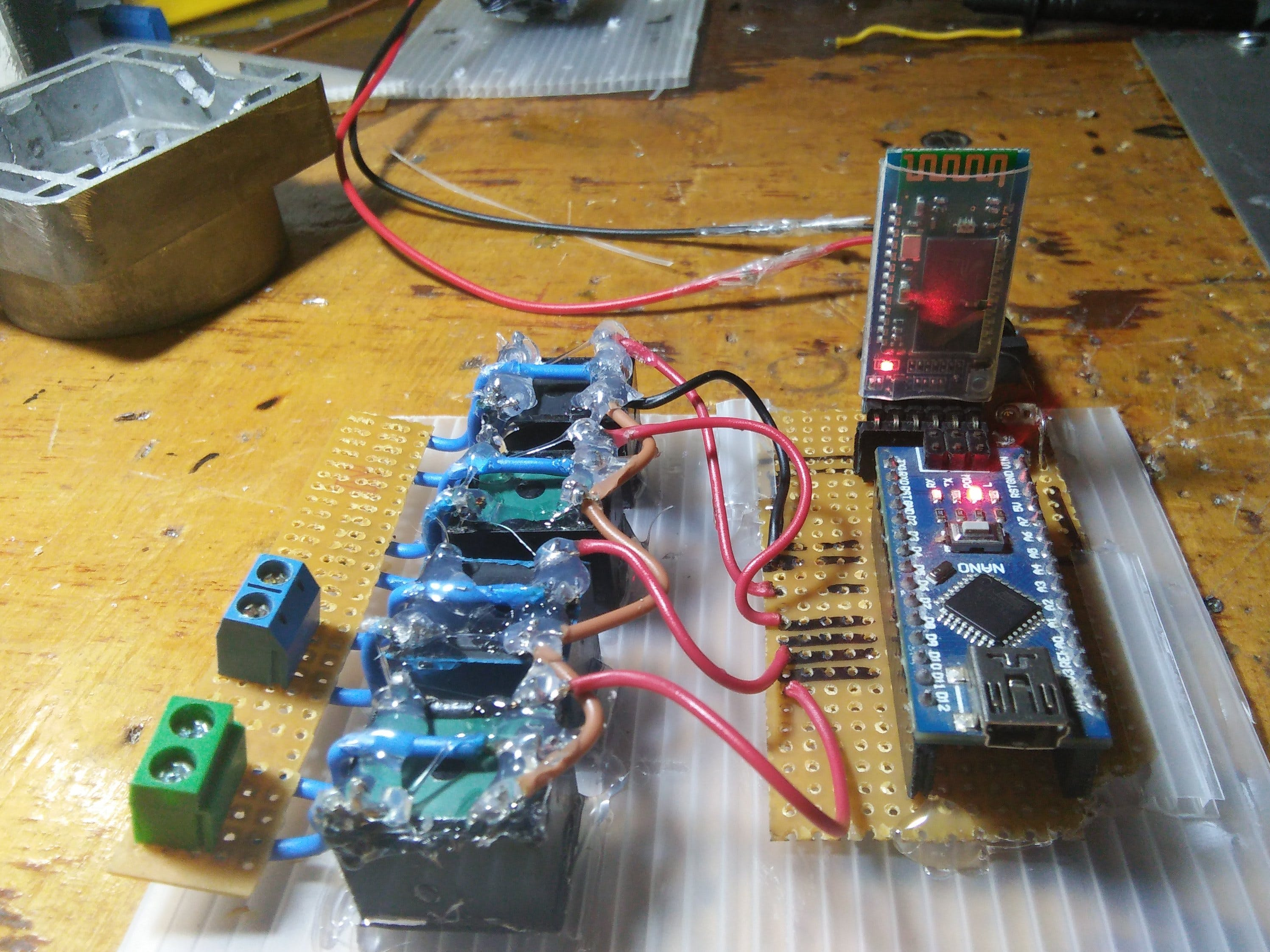 Simple Home Automation with Bluetooth and Relay