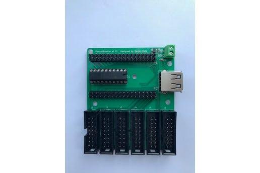 PocketScroller LED Panel Cape for PocketBeagle