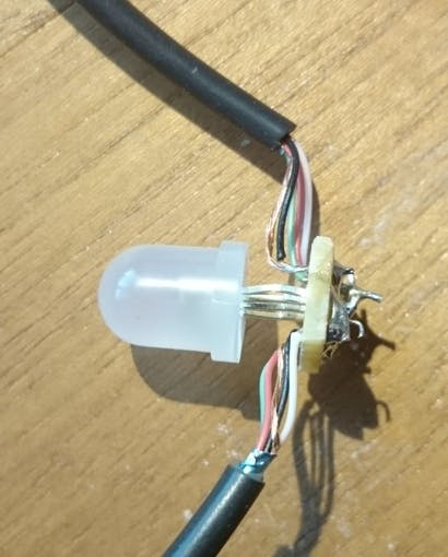 One lamp ready for operation (watch out for junk that can shortcut your circuit)