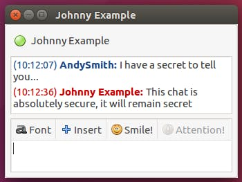 Secure P2P chat