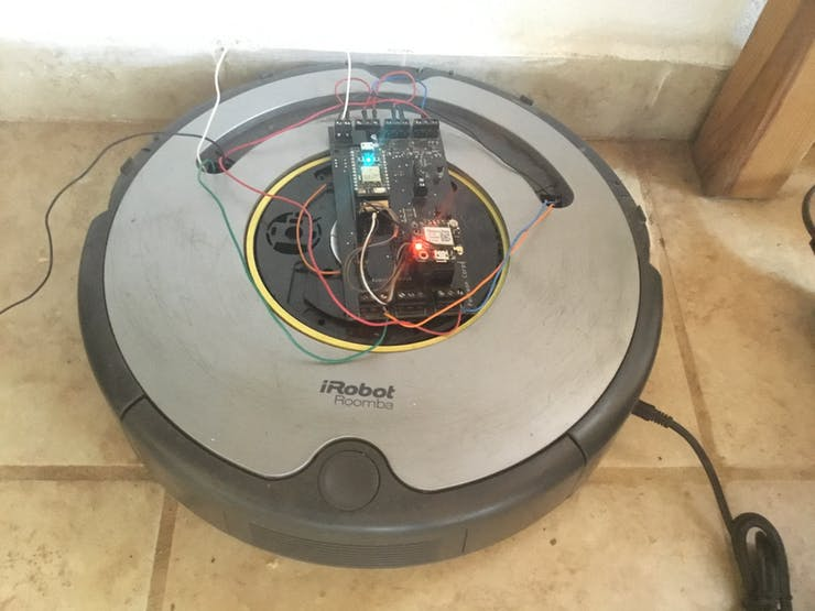 iRobot with a different board for testing the relays