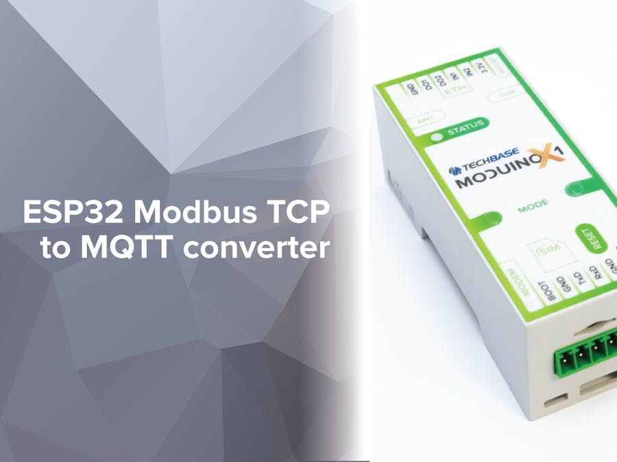 ESP32 Modbus TCP to MQTT Converter - Hackster io