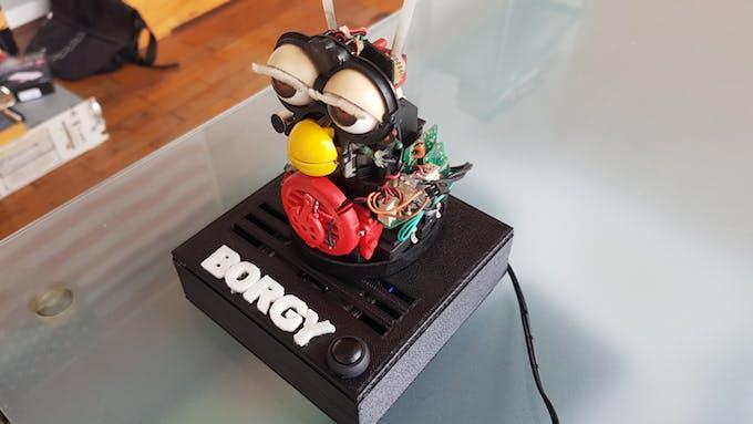 Borgy with custom 3D-printed base