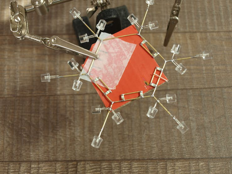 Soldering SMD LEDs using double-sided tape