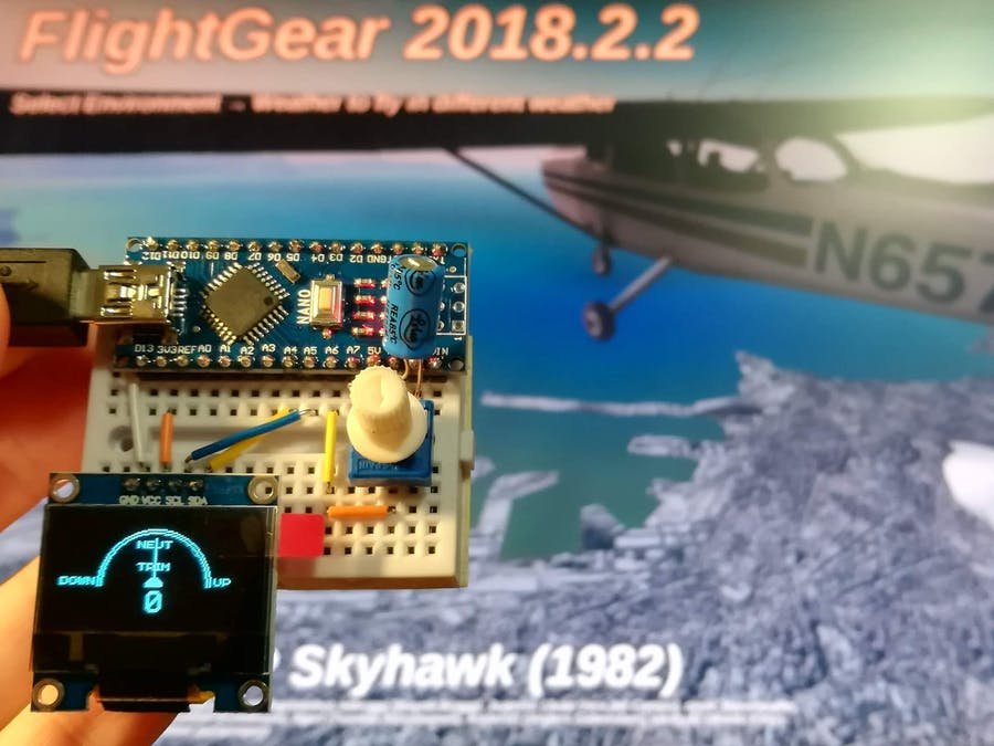 FlightGear Analog Trim Tab Wheel