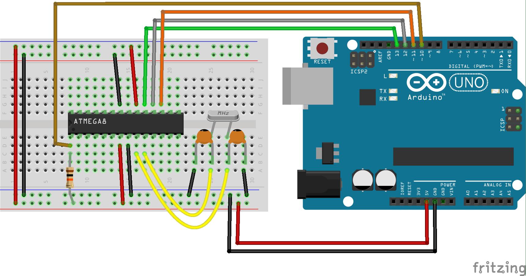Burning Arduino bootloader