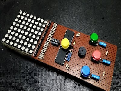 Dot Canvas Badge: Art on Matrix Display