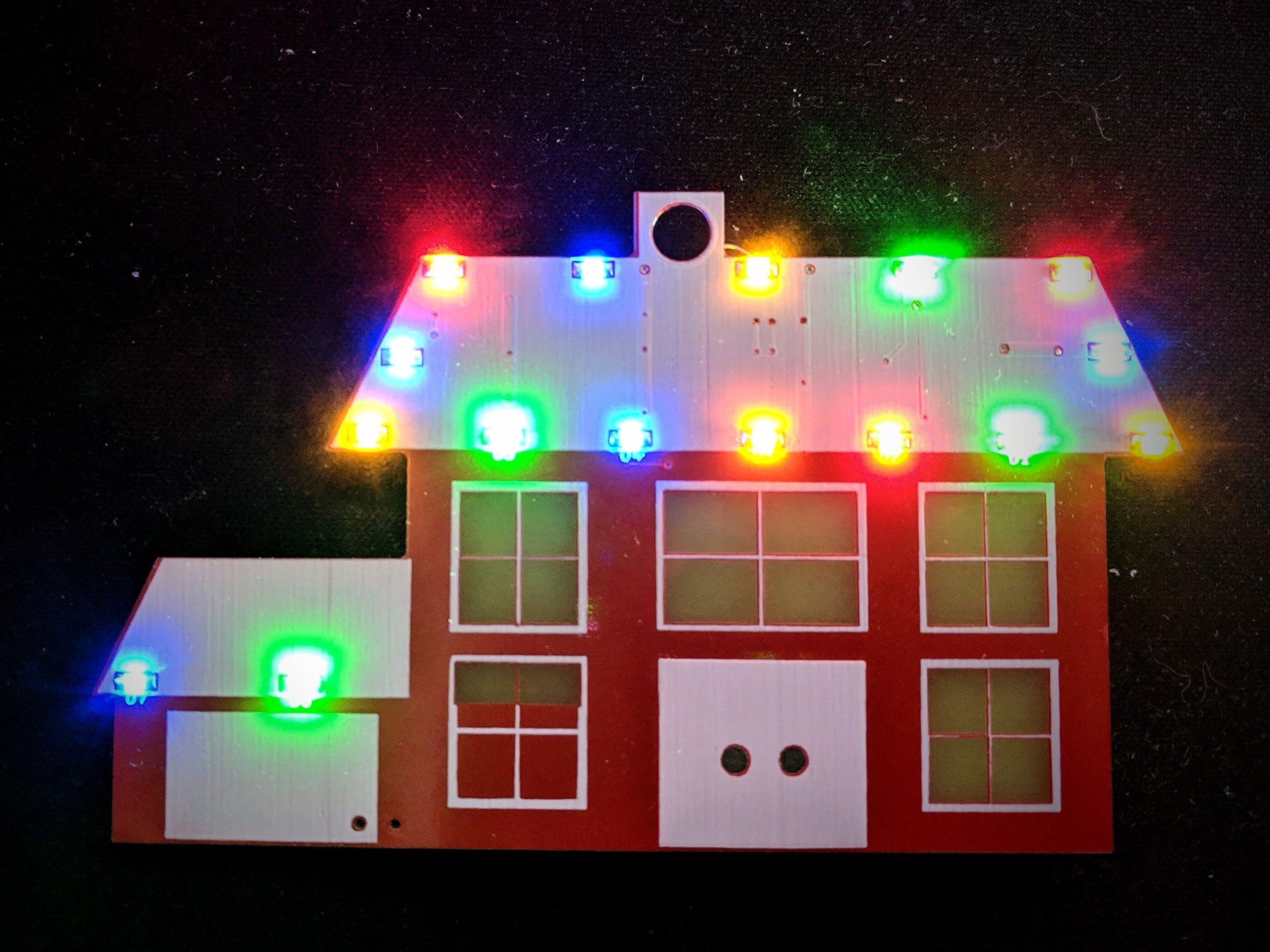 Lit House Christmas Ornament