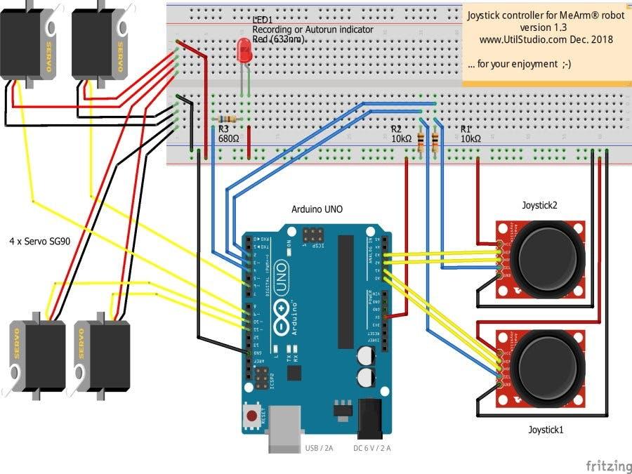 joystick controller for mearm robot