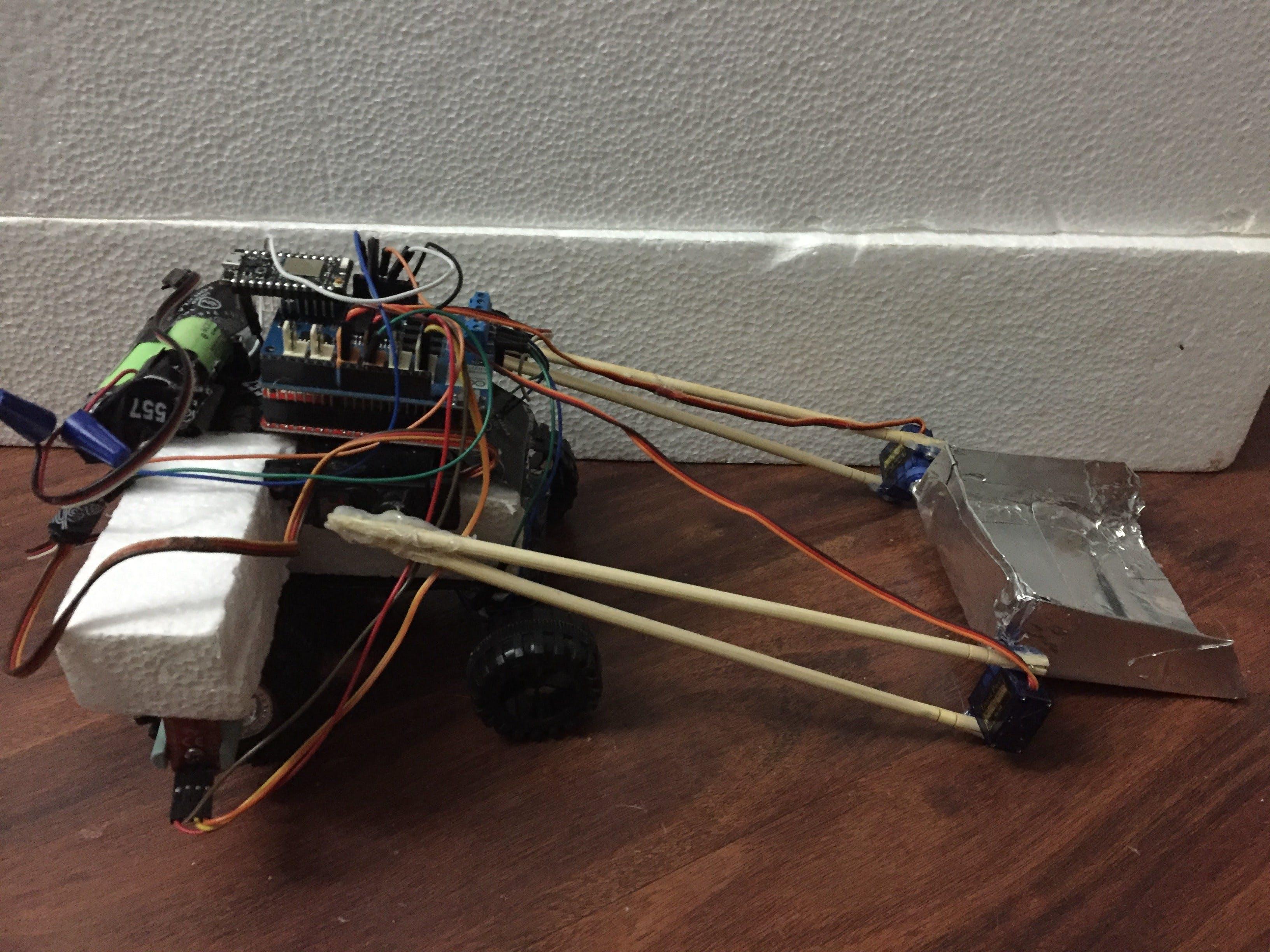 Autonomous Yard Scooping Entity