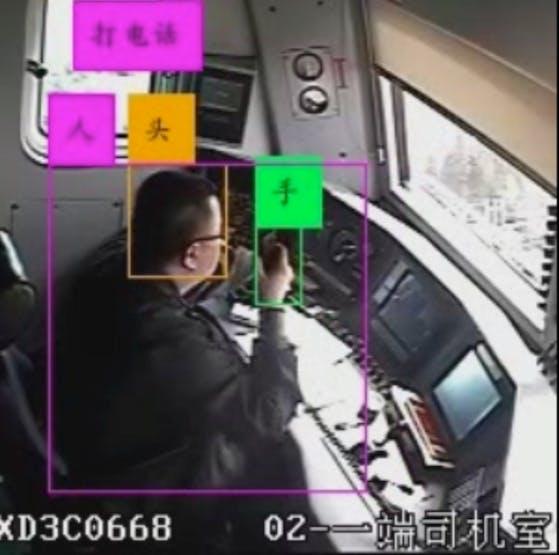 驾驶员动作分析效果图