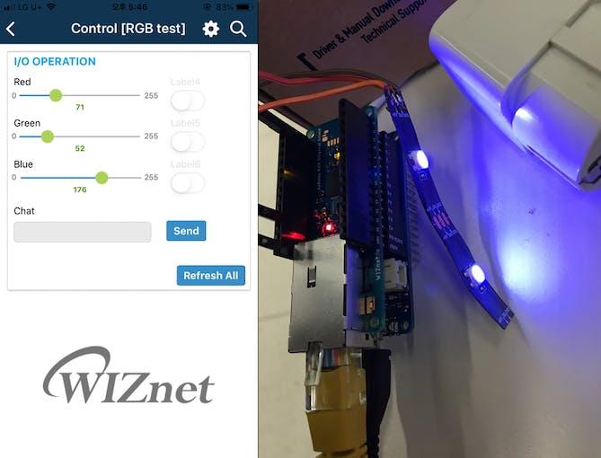 Remote control app & Arduino board