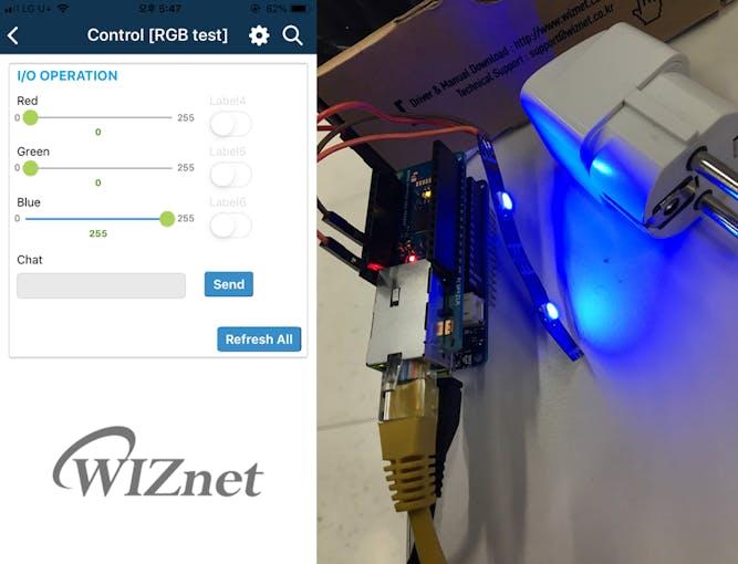 RGB control via mobile app