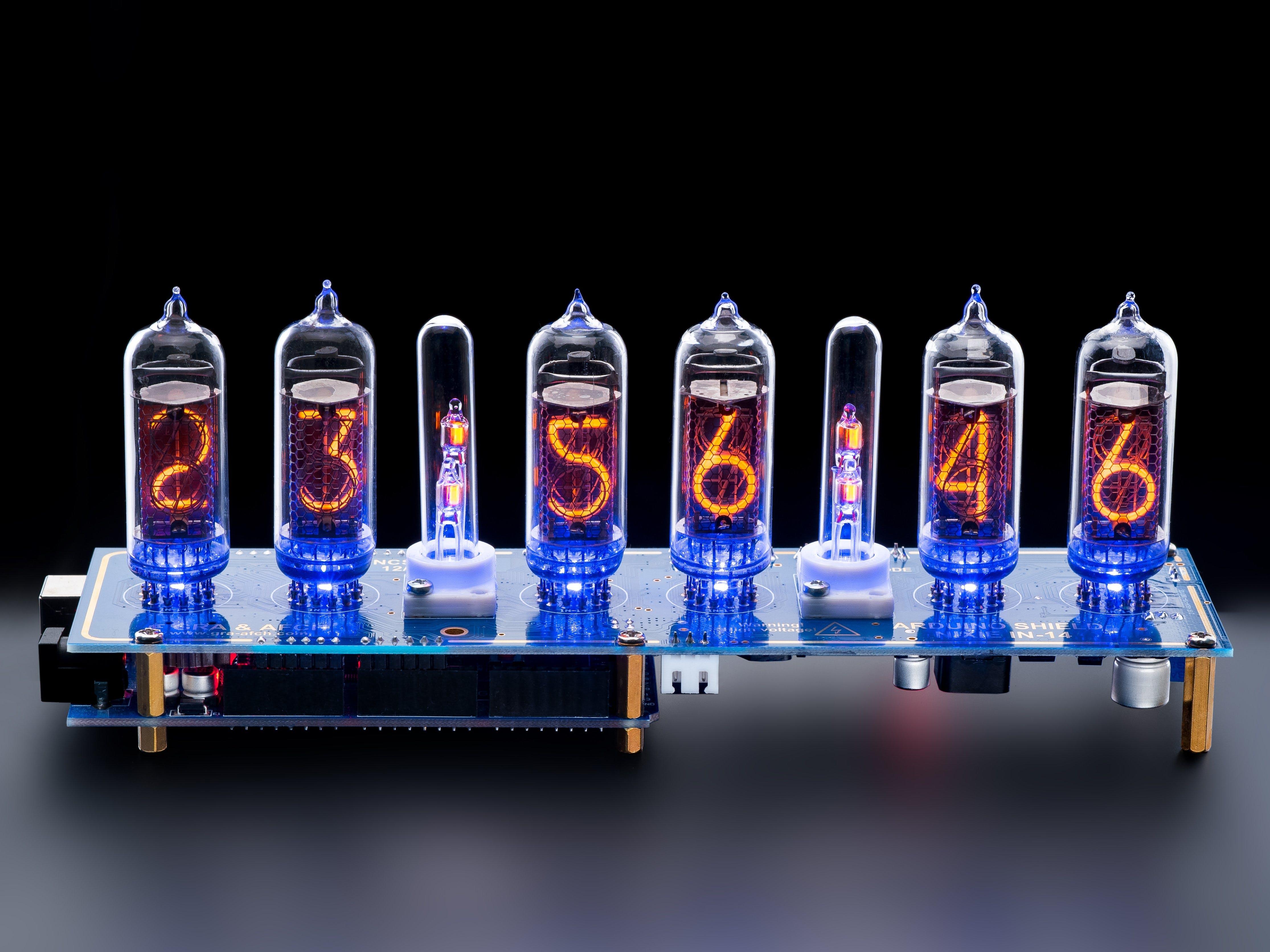 Arduino Shield NCS314 NIXIE Tubes Clock IN-14