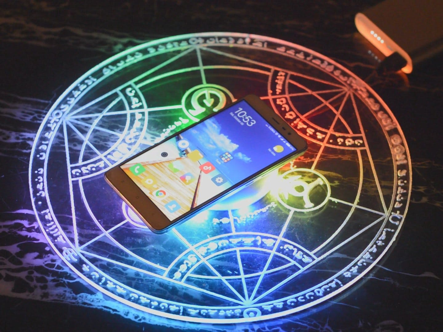 Wireless Charger With A Sound Sensing Sparkle