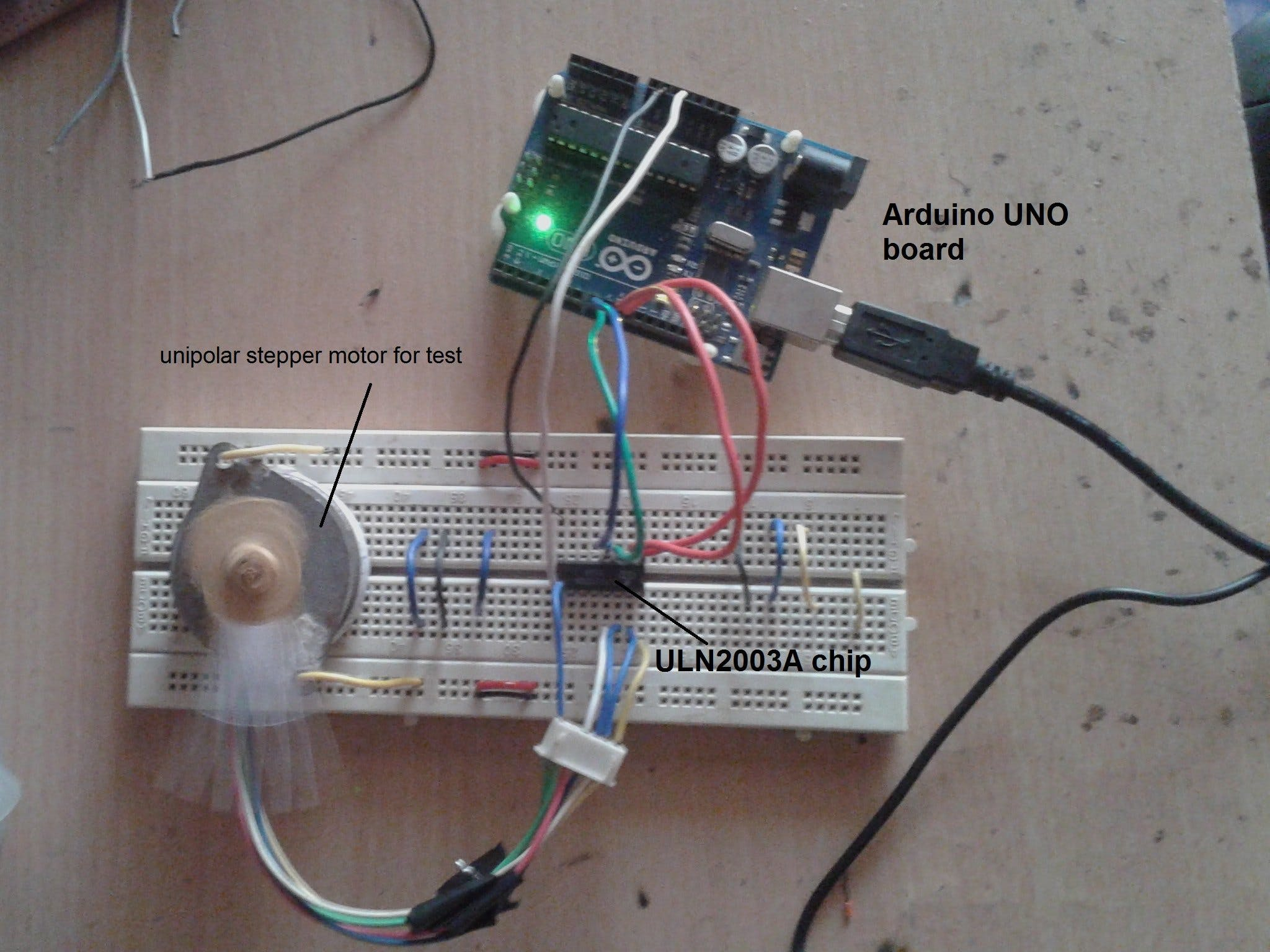 Unipolar Stepper Motor Controlling Library