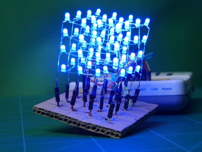 4*4*4 LED Cube Using Arduino Embedded Prototyping Platform