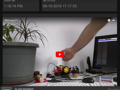 Interactive Plant Spinner - Connect Your RPi to dweetPro.io