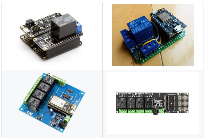 some of the boards supported by this project