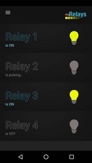 Controlling 4 relays