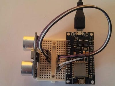 HC-SR04 Ultrasonic Distance with ESP8266 & AskSensors IoT