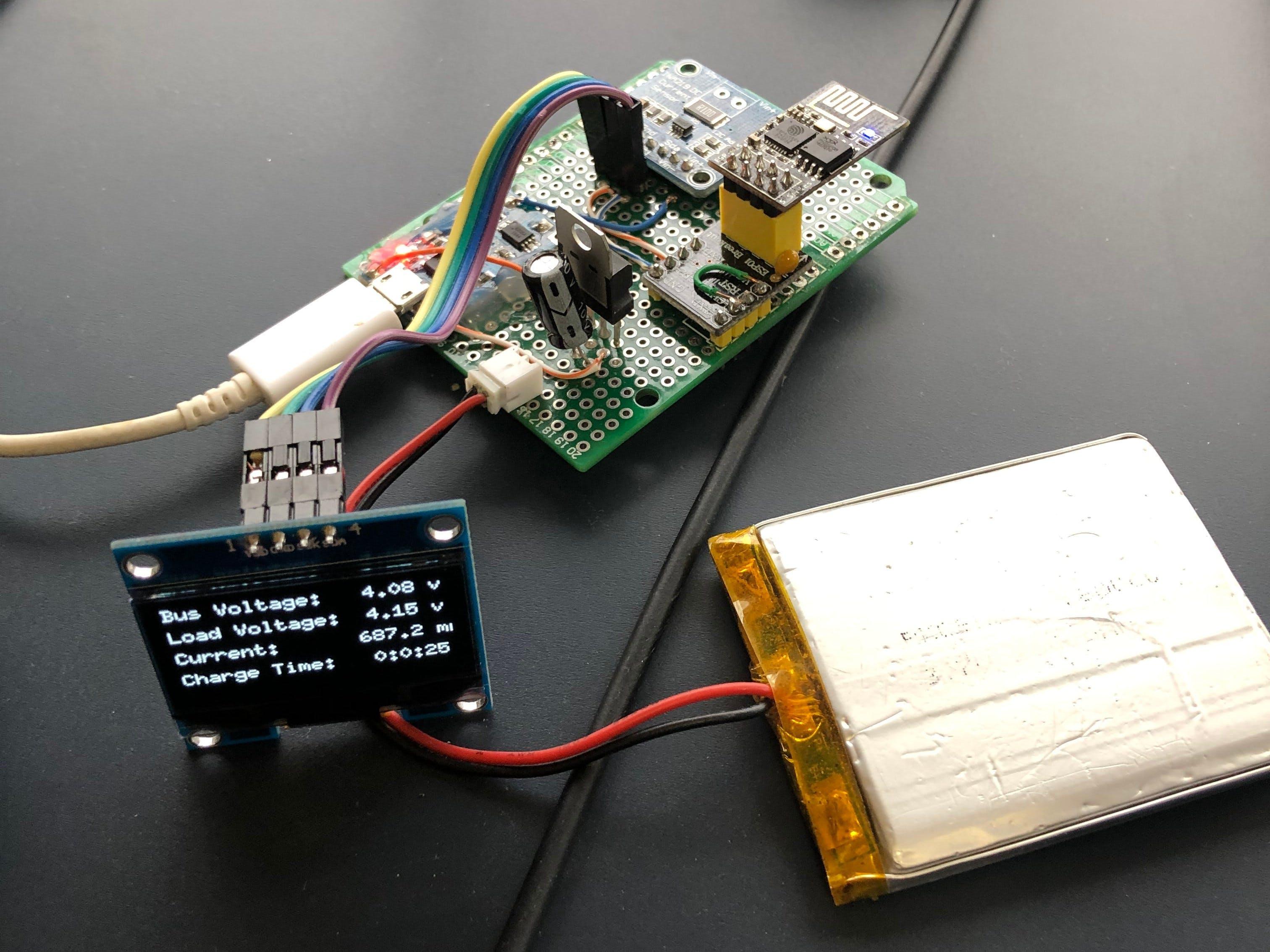 3.7v LiPo Battery Charger Monitor