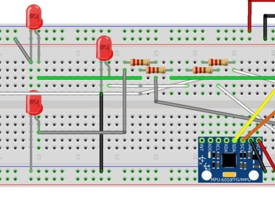 Controlling LED with an MPU-6050 - Arduino Project Hub