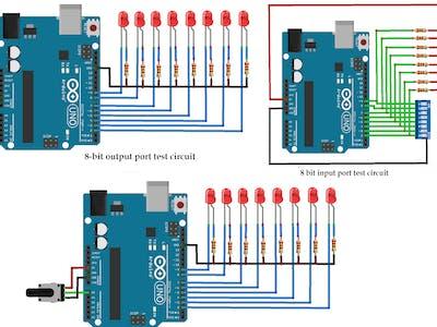 8-Bit IO Port Library for Arduino